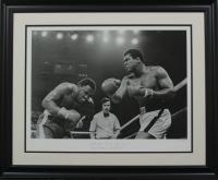 "Muhammad Ali vs. Joe Frazier LE ""The Thriller in Manila"" 23x28 Custom Framed Hulton Archive Giclee Display (PCV COA) at PristineAuction.com"