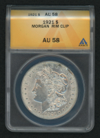 Mint Error - 1921 Morgan Silver Dollar, Rim Clip (ANACS AU58) at PristineAuction.com