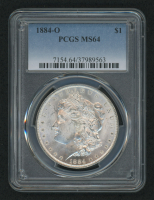 1884-O Morgan Silver Dollar (PCGS MS 64) at PristineAuction.com