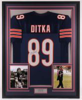 Mike Ditka Signed 33.5x41.5 Custom Framed Jersey (JSA COA) at PristineAuction.com