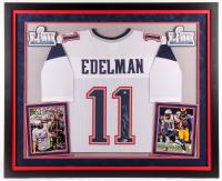 Julian Edelman Signed Super Bowl LIII 36.25x44 Custom Framed Jersey (Beckett COA) at PristineAuction.com