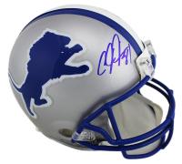 Calvin Johnson Signed Detroit Lions Full-Size Authentic On-Field Throwback Helmet (Radtke COA) at PristineAuction.com