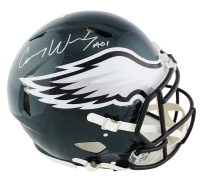 Carson Wentz Signed Eagles Full-Size Authentic On-Field Speed Helmet (Fanatics Hologram) at PristineAuction.com