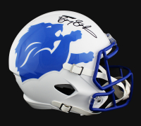 Barry Sanders Signed Lions Full-Size AMP Alternate Speed Helmet (Radtke COA) at PristineAuction.com