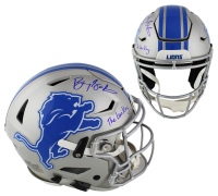 "Barry Sanders Signed Detroit Lions Full-Size Authentic On-Field SpeedFlex Helmet Inscribed ""The Lion King"" (Radtke COA) at PristineAuction.com"