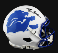 Barry Sanders Signed Detroit Lions Full-Size Authentic On-Field Speed AMP Helmet (Radtke COA) at PristineAuction.com
