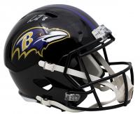 Lamar Jackson Signed Baltimore Ravens Full-Size Speed Helmet (JSA COA) at PristineAuction.com