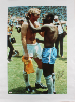 "Pele Signed Brazil 25.5"" x 35"" Photo on Canvas (PSA COA) at PristineAuction.com"