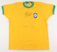 Pele Signed Team Brazil Jersey (PSA COA) at PristineAuction.com