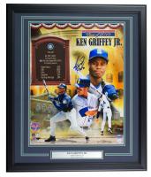 """Ken Griffey Jr. Signed Mariners 22x27 Custom Framed Photo Display Inscribed """"HOF 16"""" (TriStar Hologram) at PristineAuction.com"""