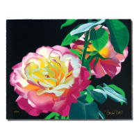 """Brian Davis Signed """"Rose in the Leaves"""" Limited Edition 20x16 Giclee at PristineAuction.com"""
