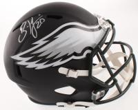 Brian Dawkins Signed Philadelphia Eagles Matte Black Full-Size Speed Helmet (JSA COA) at PristineAuction.com
