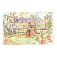 "Wayne Ensrud Signed ""Chateau Ducru-Beaucaillou (Bordeaux)"" 12x17 Pencil Original Artwork at PristineAuction.com"