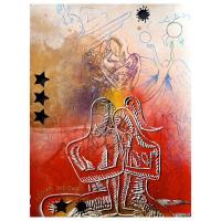 """Mark Kostabi Signed """"Dreams"""" 30x22 Original Artwork at PristineAuction.com"""