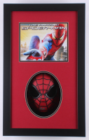 Stan Lee Signed Spider-Man 16.5x26.5x2.5 Custom Framed Shadowbox Mask Display (JSA COA) at PristineAuction.com