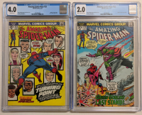 Lot of (2) CGC Graded Marvel Comic Books with 1973 The Amazing Spider-Man Issue #121 (CGC 4.0) & 1973 The Amazing Spider-Man Issue #122 (CGC 2.0) at PristineAuction.com