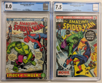 Lot of (2) CGC Graded Marvel Comic Books with 1973 The Amazing Spider-Man Issue #119 (CGC 8.0) & 1973 The Amazing Spider-Man Issue #120 (CGC 7.5) at PristineAuction.com