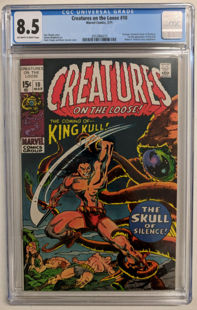 """1971 """"Creatures on the Loose"""" Issue #10 Marvel Comic Book (CGC 8.5) at PristineAuction.com"""