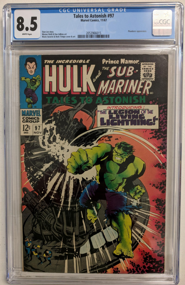 """1967 """"Tales to Astonish"""" Issue #97 Marvel Comic Book (CGC 8.5) at PristineAuction.com"""