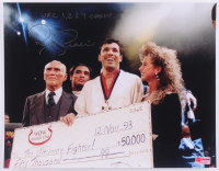 "Royce Gracie Signed UFC 11x14 Photo Inscribed ""UFC 1, 2 & 4 Champ"" (PA COA) at PristineAuction.com"