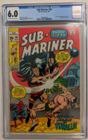 """1971 """"Sub-Mariner"""" Issue #40 Marvel Comic Book (CGC 6.0) at PristineAuction.com"""