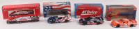 """Lot of (4) Dale Earnhardt Sr. 1:24 Scale Die-Cast Cars with #3 Goodwrench / Atlanta Olympic Games Logo 1996 Monte Carlo, #3 LE AC Delco 1997 Monte Carlo,  #3 Goodwrench 1997 Monte Carlo, & LE 1993 9th Annual """"The Winston"""" Semi-Truck at PristineAuction.com"""
