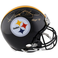 """Jerome Bettis Signed Pittsburgh Steelers Full-Size Authentic On-Field Helmet Inscribed """"HOF '15"""" (Fanatics Hologram) at PristineAuction.com"""