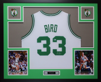 Larry Bird Signed 35x43 Custom Framed Jersey (Beckett COA) at PristineAuction.com