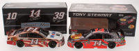 Lot of (2) Tony Stewart LE 1:24 Scale Die-Cast Cars with #14 Mobil 1 2013 SS Arc Copper & #14 Bass Pro Shops 2016 SS Color Chrome at PristineAuction.com