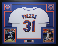 Mike Piazza Signed 35x43 Custom Framed Jersey (JSA COA) at PristineAuction.com