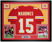 Patrick Mahomes Signed 35x43 Custom Framed Jersey (JSA COA) at PristineAuction.com
