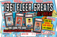 """1961 FLEER BASEBALL GREATS SET BREAK"" MYSTERY BOX - EVERY CARD IS GRADED PSA 8 NM-MT! at PristineAuction.com"