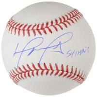 "David Ortiz Signed OML Baseball Inscribed ""541 HR's"" (Fanatics Hologram) at PristineAuction.com"