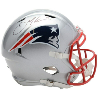 Julian Edelman Signed New England Patriots Full-Size Speed Helmet (Fanatics Hologram) at PristineAuction.com