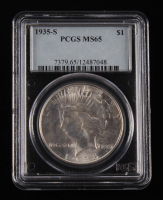 1935-S $1 Peace Silver Dollar (PCGS MS 65) at PristineAuction.com