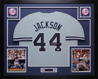 Reggie Jackson Signed 35x43 Custom Framed Jersey (JSA COA) at PristineAuction.com