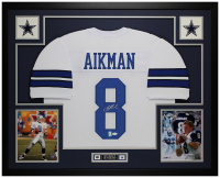 Troy Aikman Signed 35x43 Custom Framed Jersey (JSA COA & Aikman Hologram) at PristineAuction.com