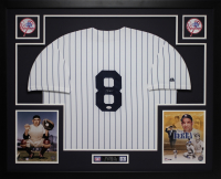 Yogi Berra Signed 35x43 Custom Framed Jersey (JSA COA) at PristineAuction.com