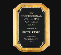 1996 Brett Favre Professional Athlete of the Year Award Plaque (Provenance LOA) at PristineAuction.com