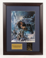 """Star Wars: Episode V -  The Empire Strikes Back"" 17.5x25.5 Custom Framed Movie Poster Display with 24kt Gold Card at PristineAuction.com"