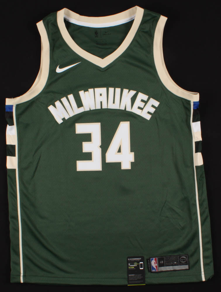 Giannis Antetokounmpo Signed Milwaukee Bucks Jersey ...