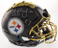 JuJu Smith-Schuster Signed Pittsburgh Steelers Full-Size Authentic On-Field Hydro-Dipped Helmet (TSE Hologram) at PristineAuction.com