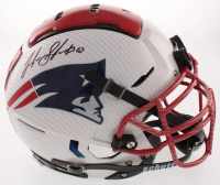 Josh Gordon Signed New England Patriots Full-Size Authentic On-Field Hydro-Dipped Helmet (JSA COA) at PristineAuction.com