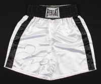 Floyd Mayweather Jr. Signed Everlast Boxing Trunks (Schwartz COA) at PristineAuction.com