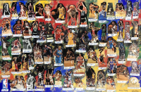 """NBA Legends"" 40x60 LE Cut Collage on Canvas Signed by (61) with Michael Jordan, LeBron James, Allen Iverson, Magic Johnson (JSA LOA) at PristineAuction.com"
