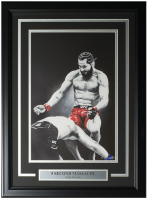 "Jorge Masvidal LE ""5 Second Massacre"" 14x24 Custom Framed Print Display at PristineAuction.com"