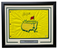Phil Mickelson Signed Masters 20x24 Custom Framed Golf Pin Flag (Beckett COA) at PristineAuction.com