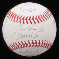 """The Sandlot"" OML Baseball Cast-Signed By (6) With Tom Guiry, Chauncey Leopardi, Shane Obedzinski, Marty York with Multiple Inscriptions (JSA COA) at PristineAuction.com"