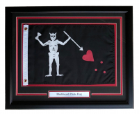 "Edward Teach ""Blackbeard"" 20x24 Custom Framed Flag at PristineAuction.com"