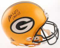 Reggie White Signed Green Bay Packers Full-Size Authentic On-FIeld Helmet with Inscription (JSA LOA) at PristineAuction.com